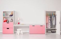 Furniture and storage. In white, not pink.