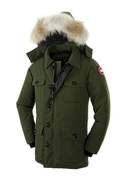 7278e5fcfab2 CANADA GOOSE BANFF PARKA MEN Military Green 4074M Canada Goose Jackets