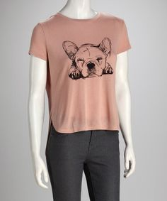 Take a look at this Antique Pink Dog Hi-Low Tee by Love By Design on #zulily today!