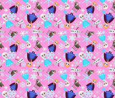 Frozen snow princess fabric by pink posh on Spoonflower - custom fabric