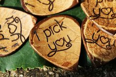 """"""" i pick you"""" Guitar Pick 