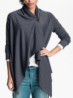 Loving this asymmetrical fleece cardigan - 33 different colors & patterns - all sizes - on sale for $39.90! http://rstyle.me/n/tecpnnyg6