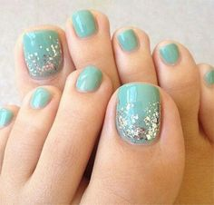 Image viaToenail DesignsImage viaCool & Pretty Toe Nail Art Designs & Ideas For Beginners .Image via Pretty Toe Nail Art D Pretty Toe Nails, Pretty Toes, Love Nails, How To Do Nails, My Nails, Essie, Manicure E Pedicure, Blue Pedicure, Beach Pedicure