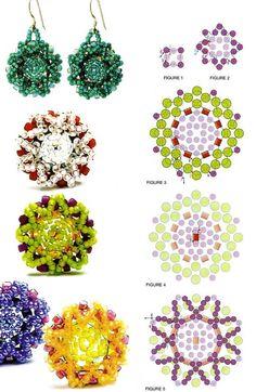 Simple free pattern for nice earrings looking like stars!