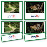 Montessori 123 - Green Series Reading Phonetic Words with Photos Set 1, three part card - Montessori Materials