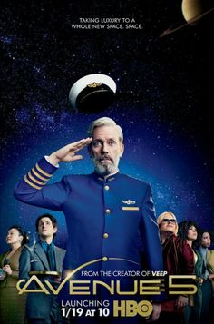 Created by Armando Iannucci. With Hugh Laurie, Josh Gad, Zach Woods, Joshua Viner. Space captain Ryan Clark of the Avenue 5 tries to get along with others in the space tourism industry. Hugh Laurie, Sci Fi Comedy, Comedy Series, Film Serie, Zach Woods, The Americans, Nurse Jackie, Ray Donovan, Movies