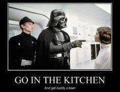 Happy Father's Day, Darth Vader - funny memes about Darth Vader as a Father figure. Father's Day Memes, Funny Memes, Nerd Funny, Funny Dad, Funny Happy, Funny Cartoons, Memes Humor, Starwars, Haha