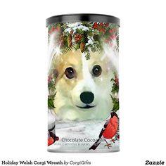 Holiday Welsh Corgi Wreath Hot Chocolate Drink Mix