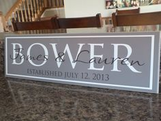 Custom Personalized Family Name Sign Wedding by AmericanWoodcrafts, $39.95