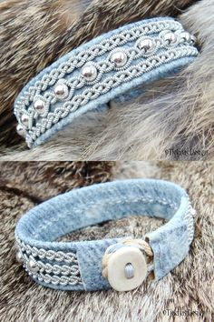 ** Thriftcycled Denim Bracelet @TjekijasDesign