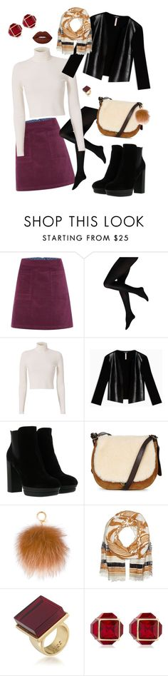 """""""Untitled #271"""" by rhirhiday ❤ liked on Polyvore featuring White Stuff, A.L.C., Max&Co., Hogan, UGG, MICHAEL Michael Kors, Bindya, Trina Turk, Vita Fede and Lime Crime"""