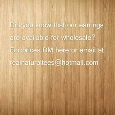 Yes! Our earrings can be purchased wholesale! #blackownedbusiness #blackowned #realnaturaltees #naturalhair #naturalhairdaily #naturalgirlsrock #naturalhaircommunity #wholesale #epilog #lasercut #woodenearrings by realnaturaltees