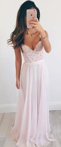 pink long prom dress, 2017 long prom dress, formal evening dress
