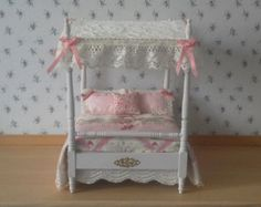 1/12th Scale Handmade Four-poster Bed. Free Shipping.................... Reduced in price