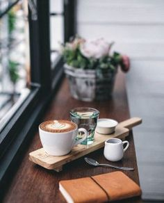 Cappuccino - Who needs a cheese board when you could have a coffee board? Actually, I'll take both. But First Coffee, I Love Coffee, Coffee Art, Coffee Break, My Coffee, Coffee Drinks, Morning Coffee, Coffee Cups, Coffee Barista