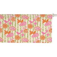 "Featuring a cheerful bird and flower motif, this crisp cotton valance lends a lovely cottage-chic air to your decor.    Product: Window valanceConstruction Material: CottonColor: Gumdrop Features:  2"" Rod pocket3"" HemMade in the USA Dimensions: 16"" H x 50"" WNote: Rod not includedCleaning and Care: Spot clean"