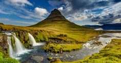 Kirkjufell Mountain Located on the Snaefellsnes Peninsula in Iceland