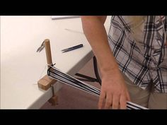 How to Warp and Weave Log Cabin on a Rigid Heddle Loom