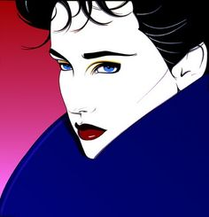 Blue Eyes, Blue Sweater - Patrick Nagel