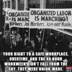 Thank a union!