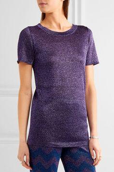 Missoni - Metallic Knitted Top - Purple - IT