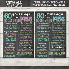 Customized Chalkboard Birthday Sign-Digital File-You Print 60th Birthday Party, Birthday Celebration, Birthday Ideas, Surprise Birthday, Birthday Woman, Fete Anne, Milestone Birthdays, Party Planning, Etsy