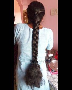 Indian Long Hair Braid, Playing With Hair, Braids For Long Hair, Fashion Poses, Girl Pictures, Braided Hairstyles, Hair Girls, Long Black Hair, Long Hair Styles