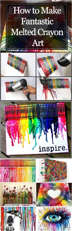 Ideas melted crayon art diy projects paint for 2019 Cute Crafts, Crafts To Do, Crafts For Kids, Arts And Crafts, Room Crafts, Art Projects, Projects To Try, Melting Crayons, How To Melt Crayons