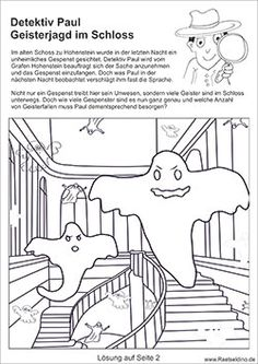 Rätselbild für Kinder - Geisterjagd