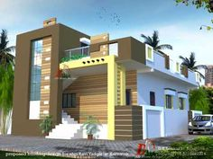 House Front Wall Design, Brick House Designs, Single Floor House Design, Latest House Designs, Bungalow House Design, Small House Design, House Floor, 20x30 House Plans, Small House Plans