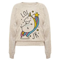 "Glitter and rainbows are the worst, just kidding, I'm a unicorn! This unicorn design features the text ""LOL JK"" with a sassy unicorn sliding down a rainbow. Perfect for a unicorn lover, unicorn gifts, sassy gifts, sarcastic gifts, feeling sassy, and when you want to show off your sarcastic, unicorn love!"