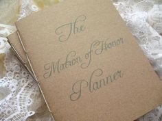MAID OF HONOR Wedding Planner Organizer Book by OrganizedBride