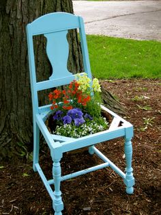 White Woods Vintage: The Chair Planter