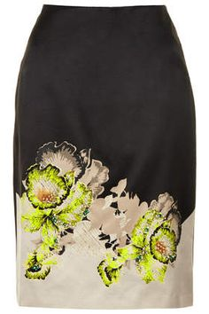 Orchid Embellish Pencil Skirt