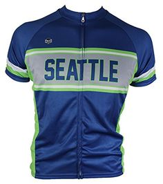 Seattle Retrostyle Cycling Jersey Large >>> Want to know more, click on the image. (Note:Amazon affiliate link)