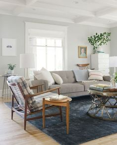 A relaxed, neutral living room - Lulu and Georgia
