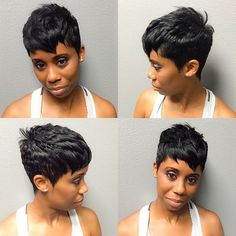 70 Overwhelming Ideas for Short Choppy Haircuts Short Sassy Hair, Short Hair Cuts, Short Hair Styles, Pixie Cuts, Short Pixie, Short Choppy Haircuts, Short Black Hairstyles, Black Pixie Haircut, My Hairstyle