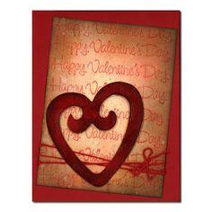 Valentine's Day Card: 39 Distress Heart