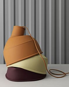 Industrially Modern: Unfold Pendant Lamp 1. The Unfold Pendant Lamp brings a new perspective to the archetypal industrial light through its silicone rubber, making for a playful and tactile design. In August 2018, Muuto introduced three new colors: Burgundy, Clay Brown and Beige-Green. #muuto #newperspectives #scandinaviandesign #interior #interiordesign #deco #homedecor