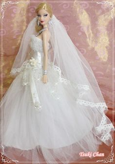 Dolls 7 bride dolls on pinterest barbie barbie for How to make a barbie wedding dress