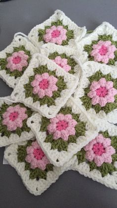 A personal favourite from my Etsy shop https://www.etsy.com/uk/listing/522885616/16-x-crochet-granny-squares-hand-made
