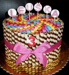 torta, cake s lentilkami