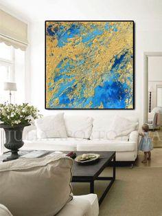 #GoldLeafPainting #LargeWallArt #Gold #GoldLeaf #Painting, #LargeArt #WallArt, #GoldandTurquoise, #BlueArt, #Abstract #Print, #GoldandBlue #Leaf #Artwork, #LargeAbstract #Art, #JuliaApostolova #Etsy #walldecor #homedecor #square #interior #interiordecor #interiordesign
