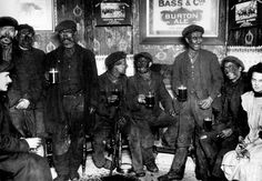 Fridge magnet - Miners in Pub. A fridge magnet showing a group of coal miners enjoying a drink in Cwm Bach, Aberdare about Women In History, Family History, Beer History, British History, Coal Miners, Outdoor Wedding Photography, British Rail, Cymru, My Heritage