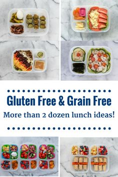 More than 2 dozen gluten free and grain free packed lunch ideas! Great for school lunches or work lunches! all packed in @easylunchboxes