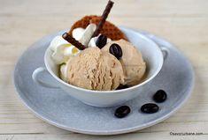 Înghețată de cafea cu lapte condensat și frișcă - extra cremoasă (fără ouă). Rețeta de înghețată de casă (Coppa del nonno) cu cafea espresso Parfait, Espresso, Ice Cream, Sweets, Homemade, Desserts, Espresso Coffee, No Churn Ice Cream, Tailgate Desserts