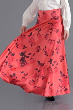 • FLORAL CORAL SKIRT • from Croyance London
