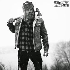And where he would be doing generally manly things like chopping wood and communing with nature. | Community Post: 13 Reasons You Should Be Dating A Lumbersexual Right Now