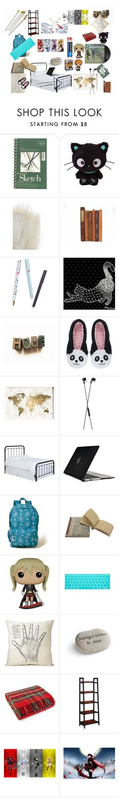 """""""an artists bedroom"""" by sakakashi ❤ liked on Polyvore featuring interior, interiors, interior design, home, home decor, interior decorating, Overland Sheepskin Co., ban.do, NOVICA and Charlotte"""