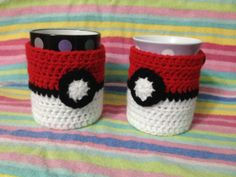 Pokemon Pokeball Mug Hug / Cup Cosy. Made to by GalaxysGifts, $7.50